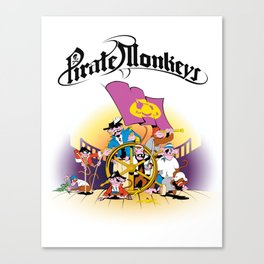 Pirate Monkeys Canvas Print
