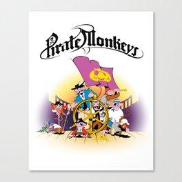 Pirate Monkeys Canvas Print