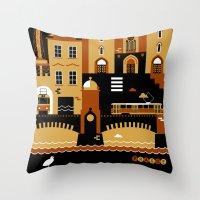 prague Throw Pillows featuring Prague by koivo