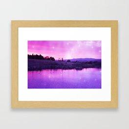 Purple Duck Sunset Framed Art Print