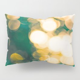 Green Turquoise Bokeh Blurred Lights Shimmer Shiny Dots Spots Circles Out Of Focus Pillow Sham