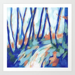 Mount Davidson - Blue Art Print