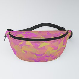 Pink, Orange, and Yellow Triangles Fanny Pack