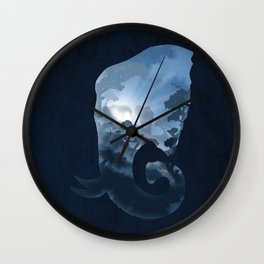 Elephants in the Night Wall Clock