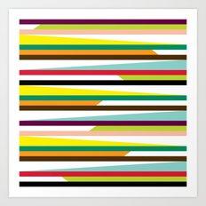 Irregular stripes #1 Art Print