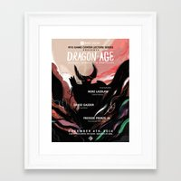 dragon age Framed Art Prints featuring Dragon Age by W Song