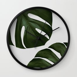 Monstera II Wall Clock