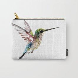 Hummingbird, bird art minimalist bird design hummingbird lover Carry-All Pouch