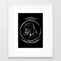 dishonored Framed Art Prints featuring Shadows of Dunwall by vicious mongrel