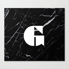 Black Marble - Alphabet G Canvas Print