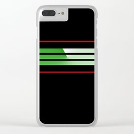 Tean Colors 5....green , red Clear iPhone Case