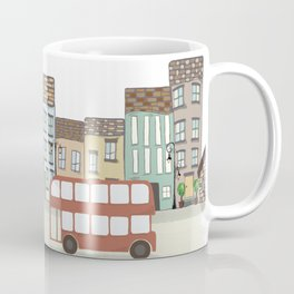Quirky London Bus Street Scene Coffee Mug