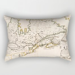 Map of Canada (Nouvelle France) 1643 Rectangular Pillow