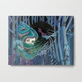 Forest eyes Metal Print