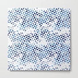 Small geometric abstract mosaic pattern Metal Print