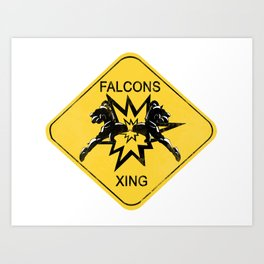 Falcons Xing Art Print
