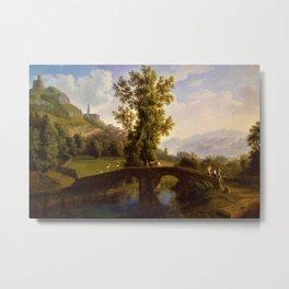 View of Italian Comune Montesarchio Jakob Philipp Hackert Metal Print