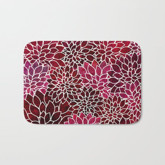 Floral Abstract 2 Bath Mat