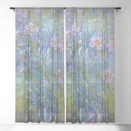 Agapanthus by Claude Monet Sheer Curtain