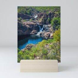 Pools and waterfalls viewed from above at Edith Falls, Australia Mini Art Print