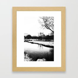 Reflection in the snow Framed Art Print