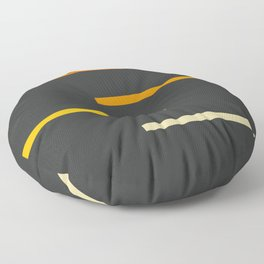 Abstract Minimal Retro Stripes Ashtanga Floor Pillow