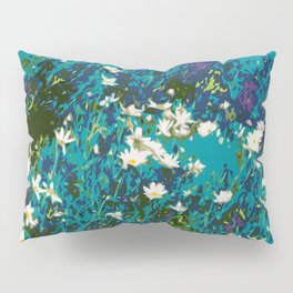 Daisies smothered in Teal Pillow Sham