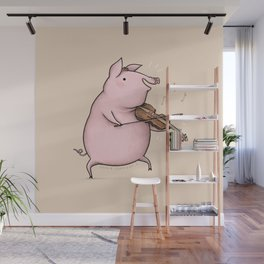 Piggy on the Fiddle Wall Mural