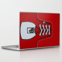 vans Laptop & iPad Skins featuring Red Vans shoes iPhone 4 4s 5 5s 5c, ipod, ipad, pillow case and tshirt by Three Second