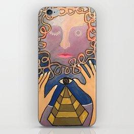 maze face iPhone Skin