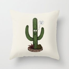 Cactus Need Love Too Throw Pillow