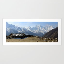 Stone House in the Himilayas Art Print