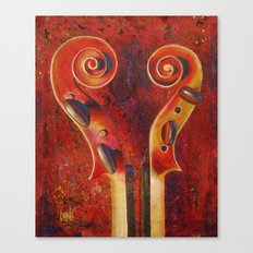 Two Violins #2 (Heart to Heart) Canvas Print