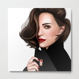 Portrait of Natalie Portman Metal Print