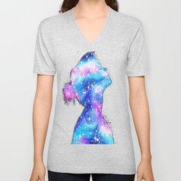 Galaxy Girl Unisex V-Neck