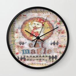 cat magic Wall Clock