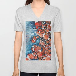Clownfishing Around Unisex V-Neck