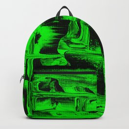 Green Abstract Art Squares Backpack