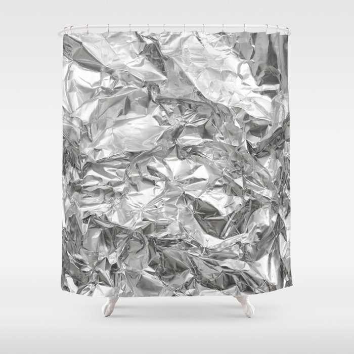 Silver Shower Curtain by rkdesign   Society6