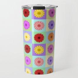 Gerbera Daisies Bright Color Design Travel Mug