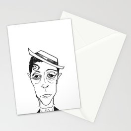 BUSTER KEATON by The Rural Drawer Stationery Cards