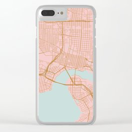 Jacksonville map, Florida Clear iPhone Case