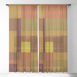 Golden Harvest Sheer Curtain