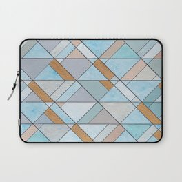 Shifting Pattern Turquoise and Gold Laptop Sleeve