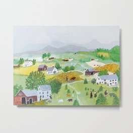 Anna Mary Robertson 'Grandma' Moses Mountains American Folk Art Metal Print
