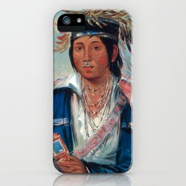 Kee-mo-rá-nia, No English, a Dandy by George Catlin iPhone Case