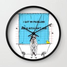 Raccoon life Wall Clock