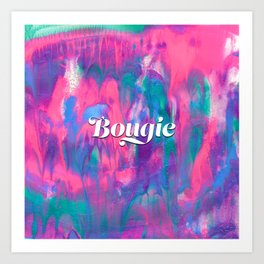 Bougie Colorful Abstract Painting Art Print