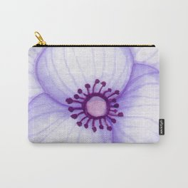 Purple Primula Flower Carry-All Pouch