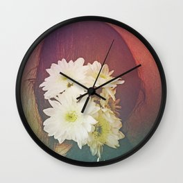 She Had Flowers in Her Hair - darkened rose version Wall Clock